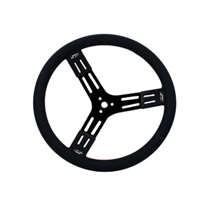 "15"" Black Steel Steering Wheel Smooth"