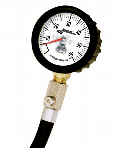 Standard Tire Pressure Gauge 0-60 by 1 lb - White face
