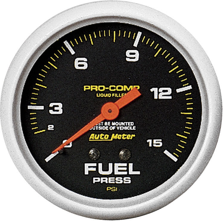 Pro Comp Replacement Gauge Liquid Filled Fuel Pressure