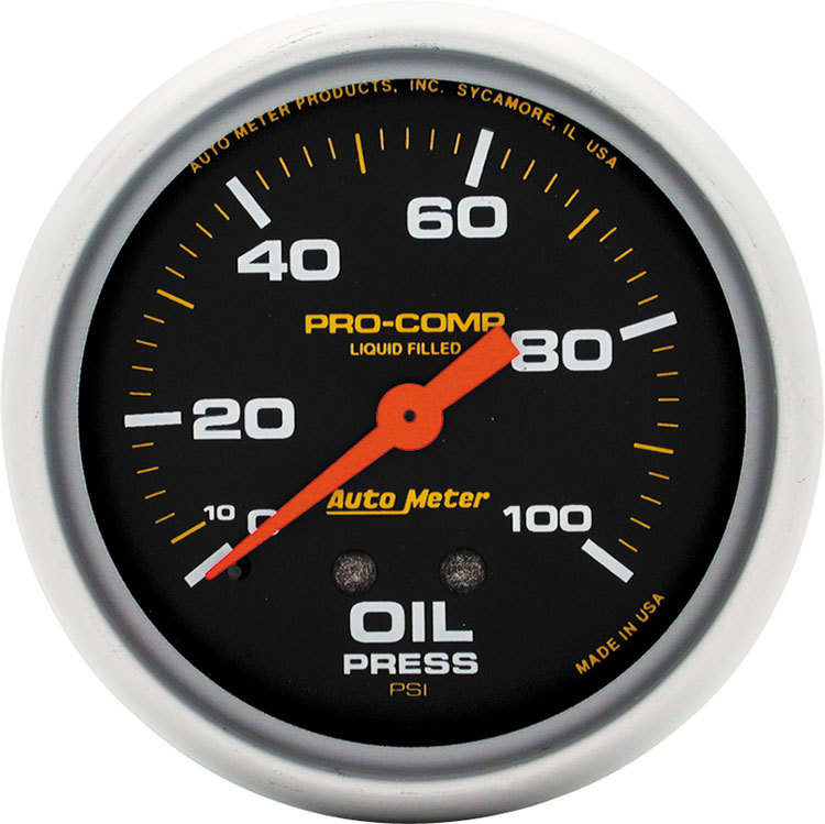 Pro Comp Replacement Gauge Liquid Filled Oil Pressure
